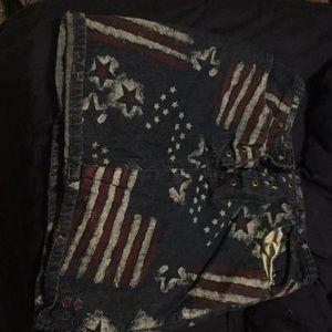America flag skirt